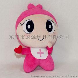 广东公仔生产厂家定做企业吉祥物毛绒玩具 来图来样打样定制