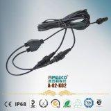 睿玛科A-02-K02防水连接器电线电缆插接防水连接器3芯