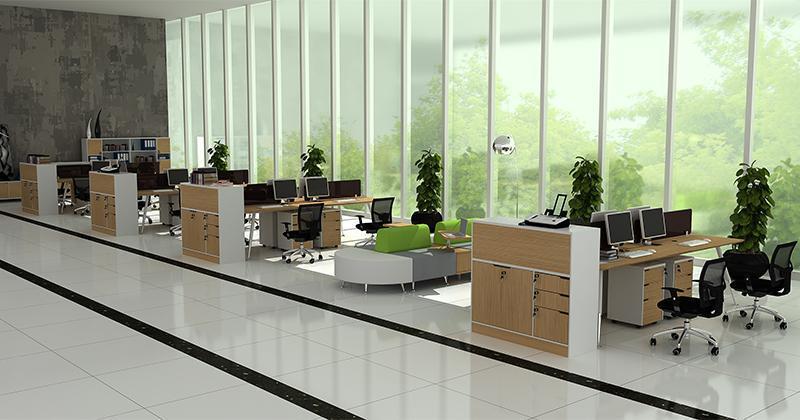 钢木结构办公桌热销丨上金办公家具