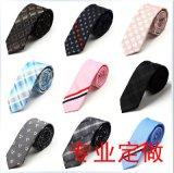 专业厂家生产定做真丝涤丝领带商务箭头领带 保安领带定做特价