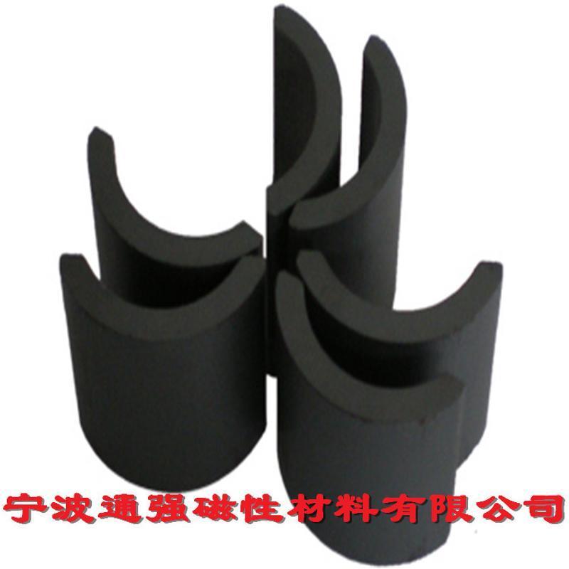钕铁硼磁铁定制 切割长方形黑色普通磁铁片Y30BH异性模压陶瓷磁铁