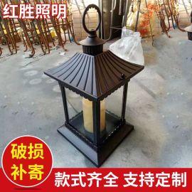 厂家供应 太阳能围墙灯 led围墙灯 太阳能中式庭院柱头灯