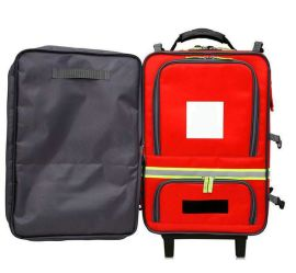 防水牛津布拉杆包大红色拉杆包医疗箱包定制可定制logo上海方振