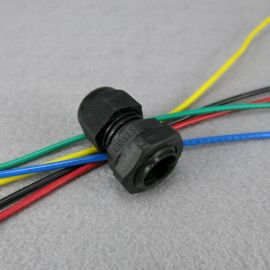 Hanrro黑色M16 x 1.5  4-8mm尼龙电缆固定头