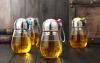 創意玻璃杯便攜可愛學生水杯女隨手杯韓國企鵝杯帶蓋茶杯過濾杯子