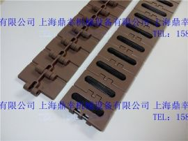 防滑型塑料链板 加胶皮塑料平顶链厂家