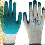 星宇劳保手套 L108 #300 十针涤棉纱线乳胶皱纹防护手套