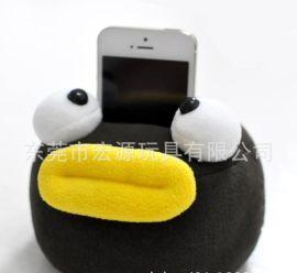 加工毛絨手機座 開心方形表情禮品手機座 企業宣傳印手機座