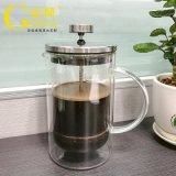 定制双层玻璃法式冲压壶欧式咖啡壶玻璃冲茶器厂家