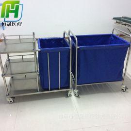 不锈钢护理车科室晨间污衣袋车医用病人护理可水洗