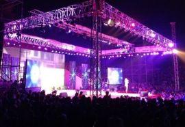 上海演出设备、灯光音响租赁、桁架背景喷绘、喷绘