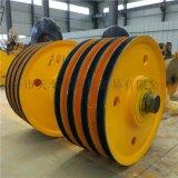 专业生产抓斗导绳轮 行车滑轮组  32T热轧滑轮组