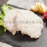 广州 M-5调理鸡肉排裹糠机 隧道鸡肉裹面包糠设备