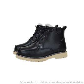 AIYA品牌2018冬季新款羊毛里儿童鞋马丁靴