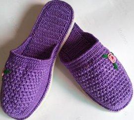 手工毛线拖鞋 - 2