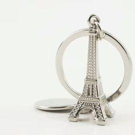 3D立体巴黎埃菲尔铁塔钥匙扣创意礼品挂件旅游纪念品