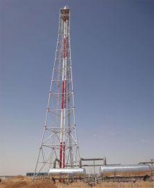 65米三柱鋼管廢氣排放放空火炬塔