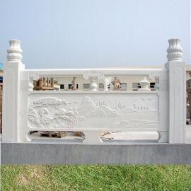 汉白玉栏杆制作施工安装厂家-曲阳县聚隆园林雕塑