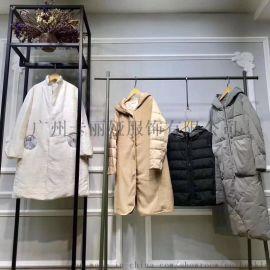 广州品牌折扣女装中长款羽绒服尾货折扣走份