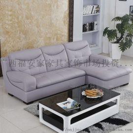 妃位十字紫皮发 贺州木质皮艺家具 梧州待客办皮沙发