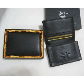 广州皮具生产厂 定制供应软牛皮名片包 **商务皮名片夹 卡包卡夹定做 皮具定制礼品批发加工