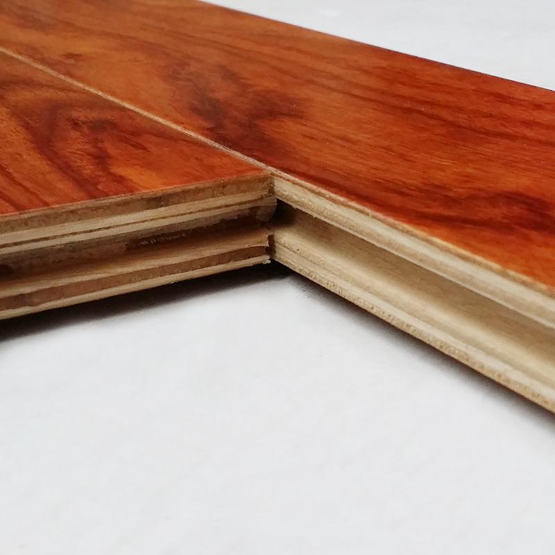 人字拼鱼骨拼多层实木复合地热地暖拼花地板亚花梨木