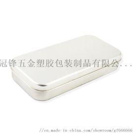 供应长方形马口铁文具盒 翻盖单层铅笔铁盒
