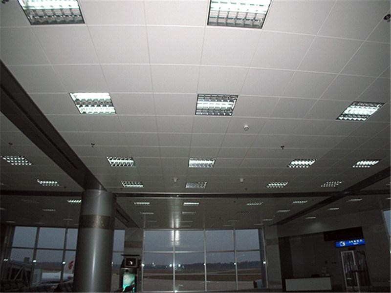 木纹吊顶铝扣板 压花白色吊顶铝扣板 工装铝天花
