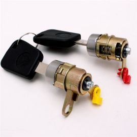 来样定做工程车门锁 通用防盗工程车门锁 铜压abs机械门锁锁具