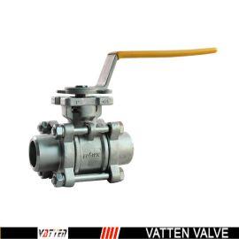 德国VATTENQ41F-16P 气动球阀中德合资上海工厂  手动焊接球阀