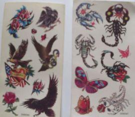 纹身贴纸,卡通贴纸,转印贴纸