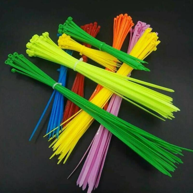 彩色3*10 自锁式尼龙扎带环保耐寒扎带 黑白红黄蓝绿扎带电缆扎带