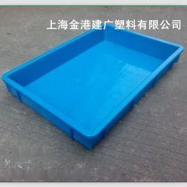 廠家直銷 2#塑料方盤523*340*75  優質塑料箱  電子周轉箱