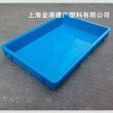 廠家直銷 2#塑料方盤523*340*75  優質塑料箱  電子週轉箱