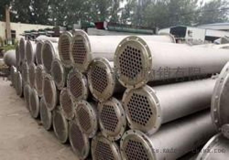 二手化工設備不鏽鋼冷凝器現貨供應