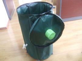 户外花园折叠雨水收集桶PVC夹网布储水桶