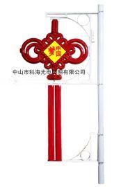 中国梦led中国结带广告流苏路灯杆装饰