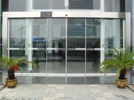 皇冠玻璃门地弹簧 配换安装钢化玻璃