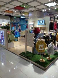 新款童裝展示櫃母嬰貨櫃兒童服裝展櫃木質烤漆服裝店展櫃貨架