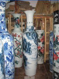 供应定制1.8米落地陶瓷大花瓶 青花瓷花瓶  客厅装饰品家居摆设