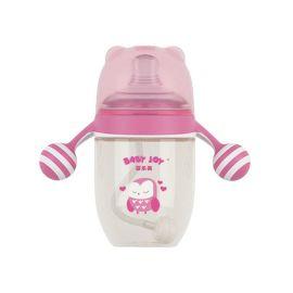 定制款宽口径奶瓶 卡通棒棒糖手柄 大口径婴儿奶瓶