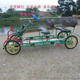亲子车 4人车 厂家直销批发四轮自行车休闲观光自然风 户外用品