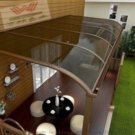 静音雨棚厂家直销万硕a-y6透明雨棚阳台.窗户雨搭PC耐力板雨蓬l露台棚