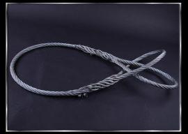 **手编6*37支镀锌钢丝绳索具/成套钢丝绳吊索具/穿扣钢丝绳