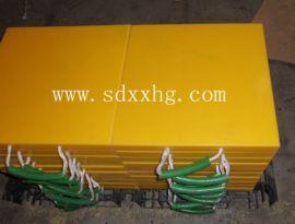 黄色支腿垫板/泵车支腿垫板 500*500*50