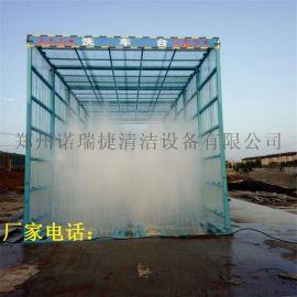 杭州6米长全方位喷淋除尘工地洗车机特点