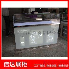 不锈钢珠宝展览柜台饰品陈列柜透明玻璃展示柜