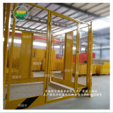 工地塔吊栏杆网 塔吊基础护栏钢筋棚塔吊标准防护厂家