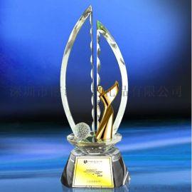 供应高尔夫奖杯 高尔夫球场比赛颁奖水晶奖杯