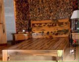 老船木牀 雙人牀實木牀船木古典大牀酒店傢俱木質個性臥室別墅牀